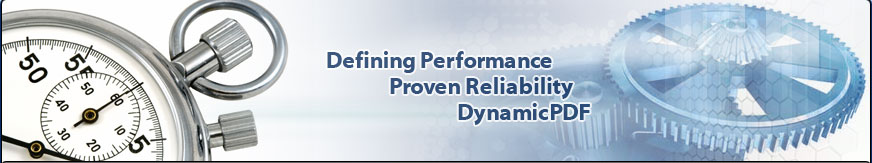 Defining performance, proven reliability, DynamicPDF